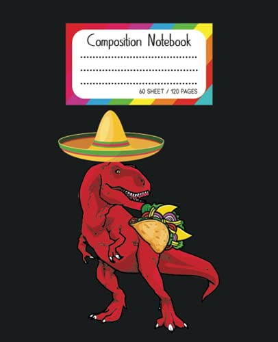 Tacos Composition Notebook: Wide-Ruled, 7.5 x 9.25, 120 Pages For kids / Composition Notebook for Kids, Cool Tacos Pattern for Boys, Back to School ... Pattern Composition Notebook for School