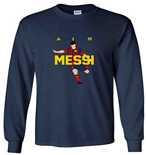 The Silo Long Sleeve Navy Messi Barcelona AIR New T-Shirt Youth