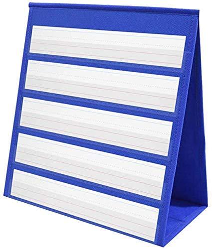 Tabletop - Tabla de bolsillo de escritorio para mesa, tabla de bolsillo superior para aula, tiras de sentencia para el aula y el hogar