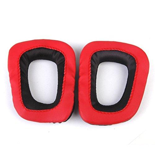 NAMVO vervangende oorkussens oorkussens voor Logitech G35 G930 G430 F450 koptelefoon - rood