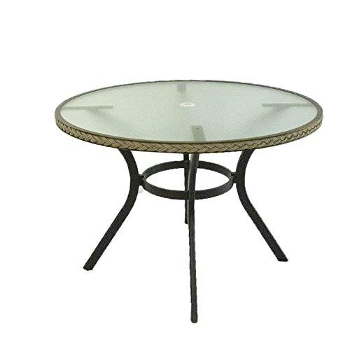 Mesa de Exterior Redonda de 105 cm de diámetro y 72 cm de Altura, Estructura de Aluminio Color...