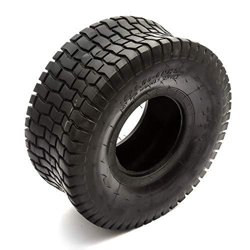 Neumático 15x6.00-6 Cortacésped de Asiento para 6'' Llanta Hierba Cuidado Seguro Chevron Pasto Peldaño 4PLY
