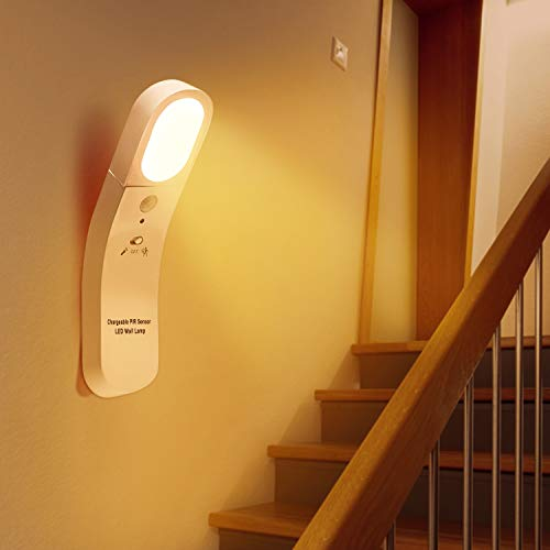 KOTONAMI Luz Armario, Luz Sensor Movimiento Interior, Linterna Lámpara Nocturna Recargable con 2 Modos, Luces LED para Armario Pasillo Estantería Escalera Niños Dormitorio Sala Pasillos Baño Cocina