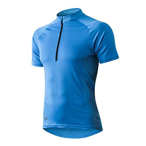 INBIKE Maillot Ciclismo Hombre Verano Transpirable Elástico Ropa Bicicleta MTB Camiseta Ciclismo Manga Corta 100% Poliéster(Azul,3XL)