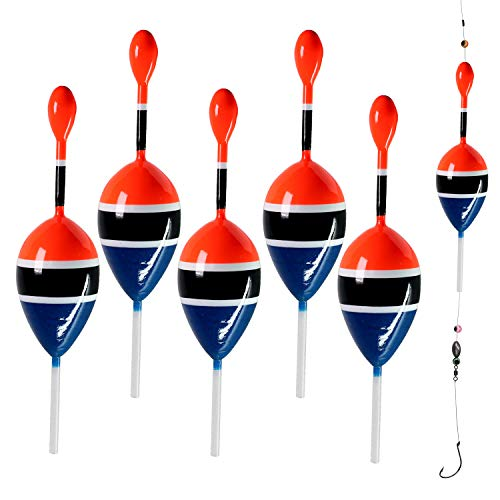 THKFISH Flotadores de Pesca Bobber 5 Piezas Flotadores de Pesca Bobbers de Pesca (Azul, 15g Flotabilidad)