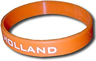 supportershop Holland armband siliconen voetbal, oranje, fr: eenheidsmaat (maat fabrikant: maat One sizeque)