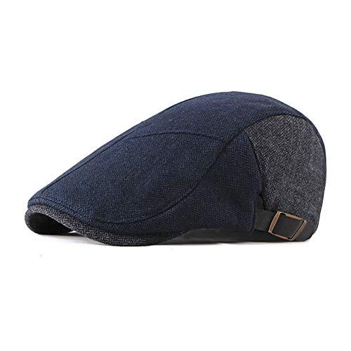 Qlans Chapeau de béret pour Homme, Chapeau Britannique Vintage Peaked Hat Newsboy Ivy Cabbie Driving Hat