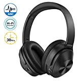 Mpow Noise Cancelling Headphones, Bluetooth 5.0 Wireless Headphones Over Ear, 30Hrs Playtime, Hi-Fi Deep Bass, CVC6.0 Mic, Soft Protein Earpads, Wireless Headphones for TV PC Mobile Phone Travel Work