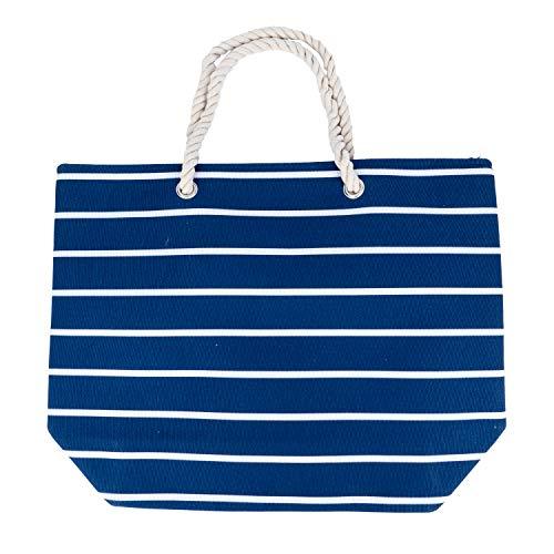 Traumschloss Strandtasche - Streifen Motiv, Farbe:dunkelblau
