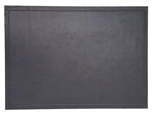 "Diversitech Outdoor Gas Grill BBQ & Fire Pit Mat 48"" x 30"" - Protects Decks & Patios - 10 Year Warranty, Black Floor Grill Mats Pads"