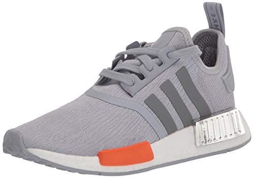 adidas Originals Men's NMD_r1 Sneaker, Halo Silver/Black Silver Metallic/Bahia Orange, 10