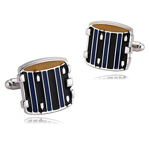 Adisaer Edelstahl Manschettenknöpfe Herren Blau Gelb Manschettenknopfe Instrument Schlagzeug Form Hochzeit Manschetten Knöpfe Punk Gothic Verlobung Schmuck