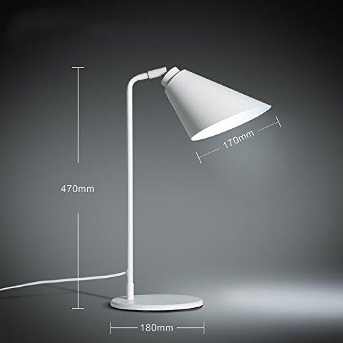 MOMO Lampada da Tavolo Moderna da scrivania Minimalista DJFHH, Lampada da Comodino a Luce Calda Creativa da Lavoro a Braccio Lunga da Studio