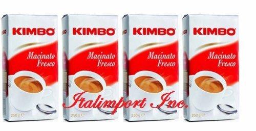 Kimbo Macinato Fresco 4 buste da 250g Imported from Italy