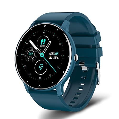 HUAHAP Smartwatch, Reloj de Pulsera de 1. 2 Pulgadas, Reloj Deportivo Impermeable IP68 Reloj Inteligente para Hombres con podómetro, cronómetro, Control de música, Compatible con A