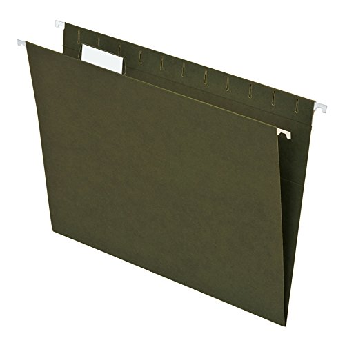 Pendaflex Essentials Recycled Hanging Folders, Letter Size, Standard Green, 25 per Box (75705)