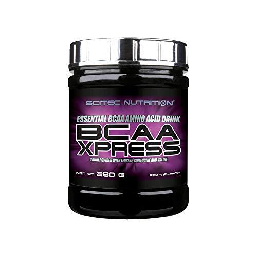 Scitec Nutrition BCAA Xpress, Bebida en polvo de aminoácidos esenciales BCAA con leucina, isoleucina y valina, 280 g, Pera