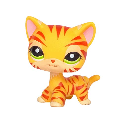 MKDLB Lps Pet Shop Toys,Pink Shorthair Cat Dachshund Dog Standing Doll Collection Children Gift