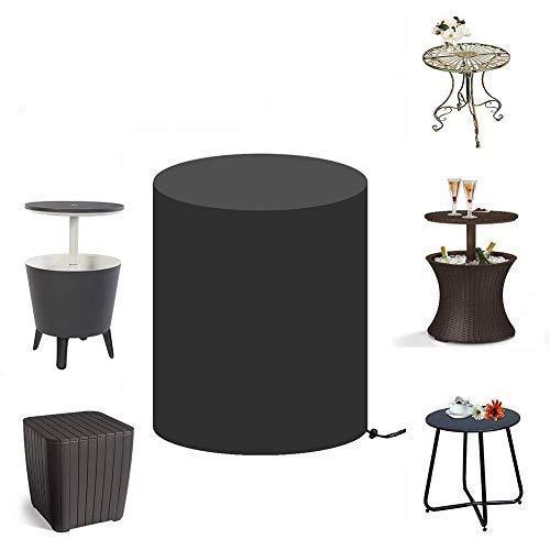 Cool Bar Cubierta de mesa para Keter 7.5-Gal Cool Bar Table, Cubierta de mesa de enfriador de cerveza redonda para patio exterior, Cubos de enfriador de hielo Cubierta de mesa de bar (52cmX58cm)