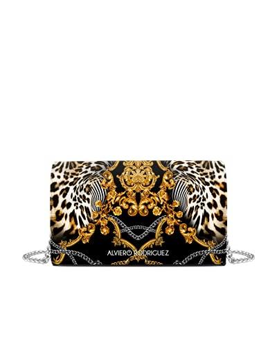 Alviero Rodriguez Borsa baroque leopard