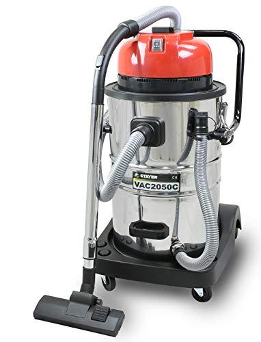 Stayer 1.1198 Aspirador para sólidos y líquidos con depósito de 50L, Vac 2050 C, 1200 W