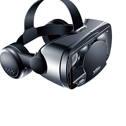 QiaoJia Óculos de realidade virtual VRG Pro 3D VR com tela completa e ângulo amplo para dispositivos de smartphone de 5 a 7 polegadas
