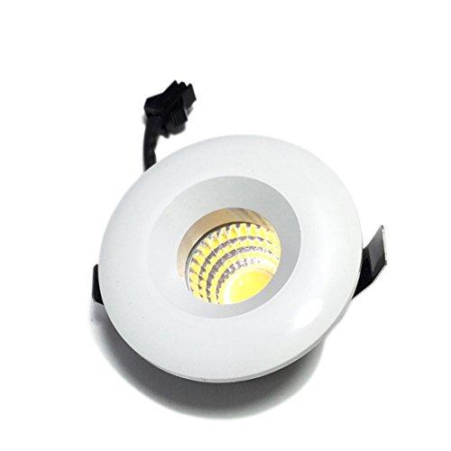 Minilámpara redonda de moda con luz LED descendente de pared de 3 W, 110-240 V, 3000 K, blanco cálido, de la marca Lediary, aluminio, Daylight White 3.00 W