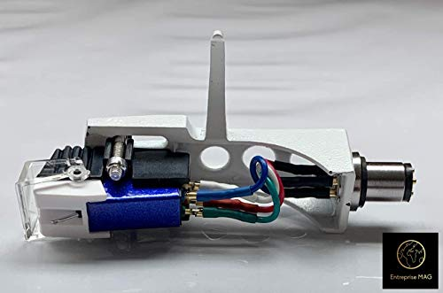Cartridge and Stylus, needle with mounting bolts And white Headshell for Stanton T120, T60, T80, T90, T62, T92, ST150, T92 usb, ST100, STR8100, STR880, STR890