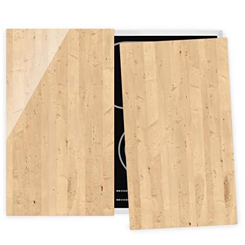 Bilderwelten Couvre Plaque de Cuisson à Induction vitrocéramique - Apple Birch 52 x 60 cm
