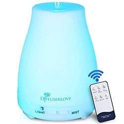 in budget affordable Diffuser Love Essential Oil Diffuser Ultrasonic Mist Humidifier 200ml BPA Free Aromatherapy…