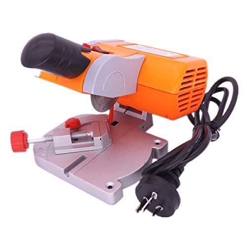 ZYQZYQ 45 Degree Mini Cutting Machine Bench Cut-Off Saw Steel Blade DIY Tools for Cutting Metal Wood Plastic with Adjust Miter Gauge