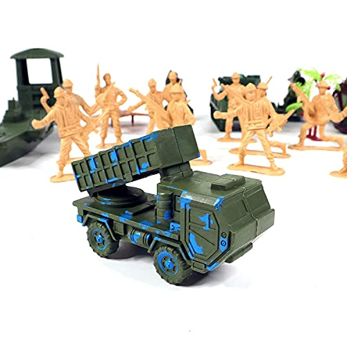 MINNA BAZZAR Plastic Army Set Toys for Boys Military Soldiers Set for Kids 31PCs Army Fighter Toys for Kids Boys and Girls / Plastic