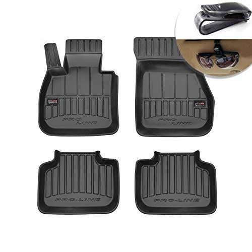 Alfombrillas de Goma 3D Alfombrillas de Coche TPE, compatibles con el Juego BMW F48 X1 II F39 X2, Borde Muy Alto, Juego de 4 Piezas con Sistema de Montaje Negro
