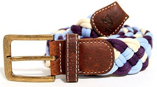 JD Solis Patagonia - Cinturón tejido, color morado, azul cl