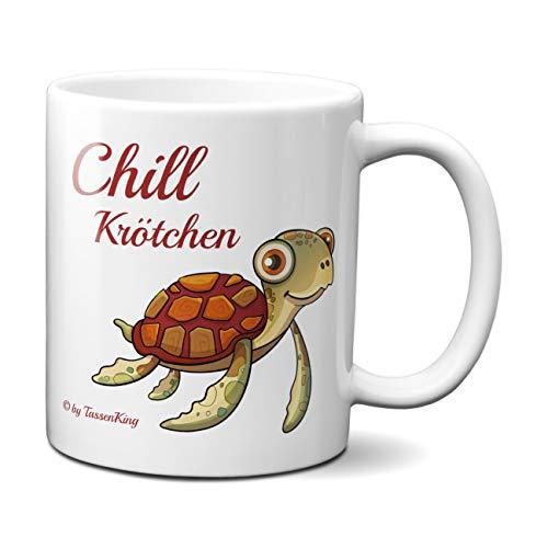 Chill Krötchen Tasse, Kaffeetasse mit Motiv, Tasse mit Spruch, Chillkröte
