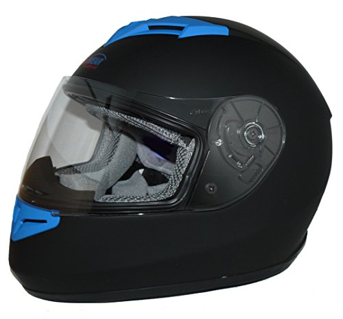Protectwear Motorradhelm V121-BL schwarz-blau matt – M - 4