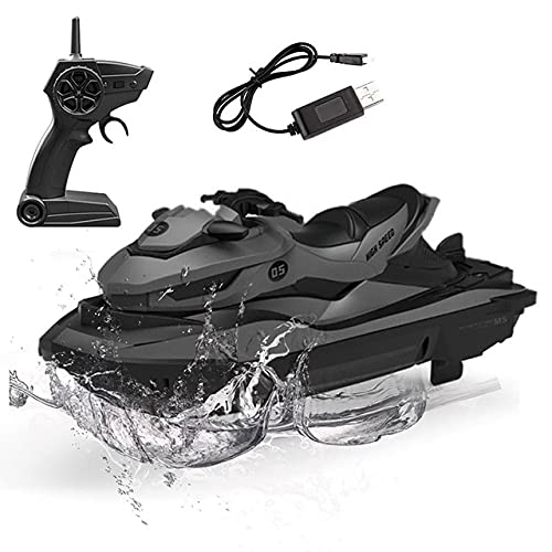 Ycco Smart Sports High Speed Jet-ski Control remoto eléctrico 4CH Lancha rápida Recargable 2.4G Radio RC Juguetes anticolisión Barco de velocidad Lancha a motor Barco para piscinas Lagos Outdoor Niñ