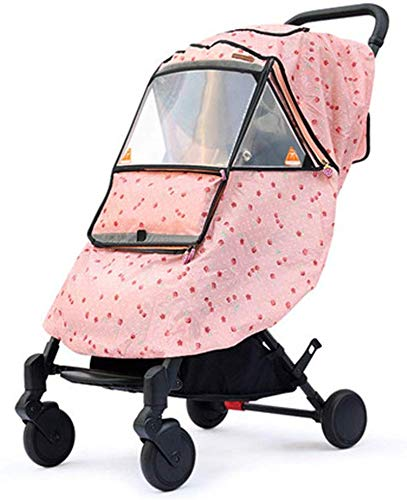 KaiKai Regen-Abdeckung for Kinderwagen Kinderwagen Wetterschutzabdeckung warmen Winter-Baby aus der Artifact Windschutzscheibe Universal-Stroller Raincoat (Farbe: E, Größe: Eine Größe)