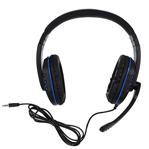 ASHATA, kabelgebonden gaming-koptelefoon, ergonomische HD-sound gaming headset met 3,5 mm stekker en microfoon voor PC/voor PS4 Slim/voor PS4 Pro/voor Ones X/voor switch-gameconsoles
