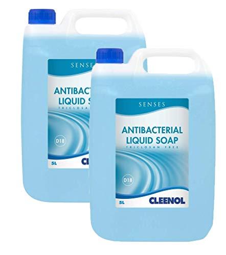 Cleenol 0770192X5 Senses Antibacterial Liquid Soap, Blue, 5 Litres, Pack of 2