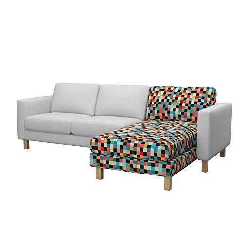 Soferia Ersatzbezug fur IKEA KARLSTAD Anbau Recamiere, Stoff Mozaik Red, Rot