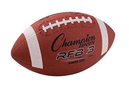 Champion Sports Football en Caoutchouc – Disponible en Plusieurs Tailles, RFB3, Marron, Junior