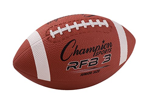Champion Sports RFB3 Rubber Sports Ball for Football Junior Size Brown CSIRFB3