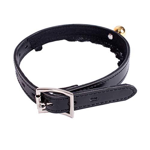 Bell collar etapa divertido papel llevar encaje microfibra cuero sexy punk cuello anillo perro esclavo collar