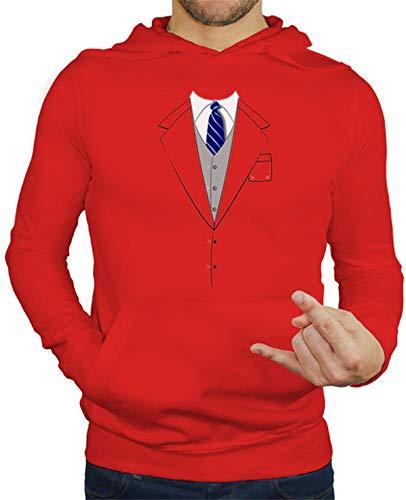 tostadora - Hoodie Anzug Krawatte Blau - Manner Rot S