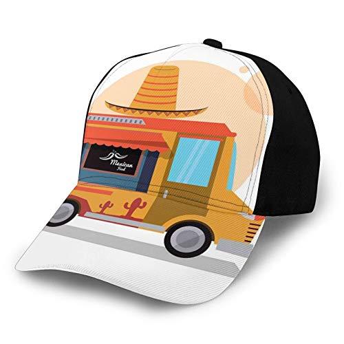 FULIYA Gorra de béisbol para el sol, diseño mexicano, comida rápida, con un sombrero grande, sombrero gráfico de pescador, sombrero de playa, protección solar, color morado para hombres y mujeres