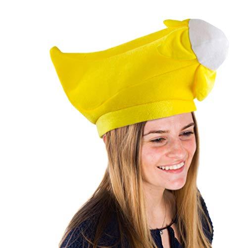 Tigerdoe Lebensmittel Hüte - Fast Food Hüte - Burger Hut - Fries Hüte - Maiskolben Hut - Lebensmittel Kostüme (3er-Pack) Banana Hut Einheitsgröße Gelb