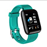 Lamkei Bouncefit Water Resistant, Square Green Strap Smartwatch with Activity Tracker, Steps, Blood