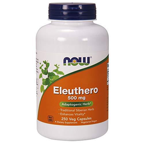 Now 500mg Eleuthero Supplement 250 Veg Capsules