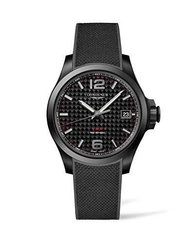 Longines Conquest V.H.P. Reloj de hombre con esfera de carbono negra L3.716.2.66.9